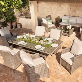 Set tavolo e sedie Manhattan naturale