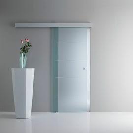 Porta da interno scorrevole Pegaso trasparente 96 x H 215 cm reversibile