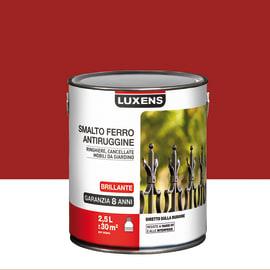 Smalto per ferro antiruggine Luxens rosso brillante 2,5 L