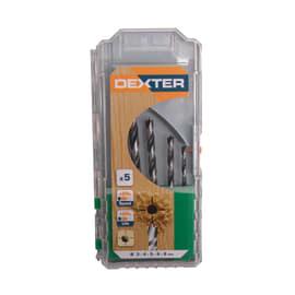 Set 5 punte per trapano per legno Dexter