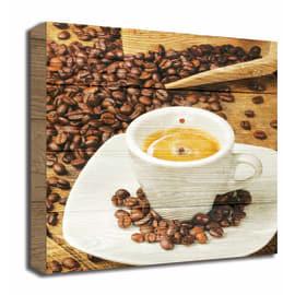 Quadro in legno Coffee cup 30x30
