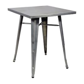 Tavolo Industrial, 60 x 60 cm argento