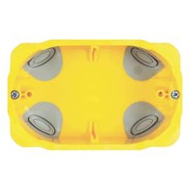 Scatola rettangolare 3 moduli da incasso per pareti in cartongesso giallo
