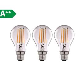 3 lampadine LED Lexman Filamento E27 =100W goccia luce naturale 360°
