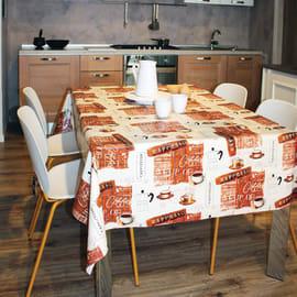 Tovaglia plastificata Caffè vintage marrone 160 x 120 cm