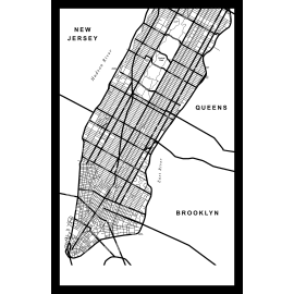 Quadro in plexiglass NY Map 42x63