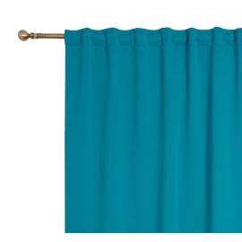 Tenda oscurante fettuccia e passanti nascosti blu 140 x 280 cm