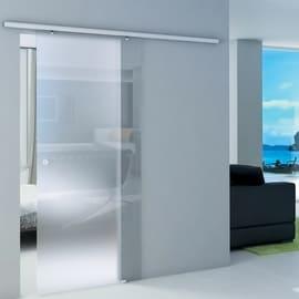 Porta da interno scorrevole Atena Neutro 86 x H 215 cm reversibile