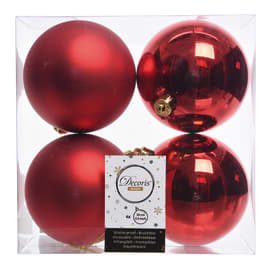 Box sfere rosso ø 10 cm