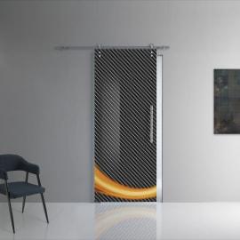 Porta da interno scorrevole Grafic 1/binario Ermes 88 x H 215 cm sx