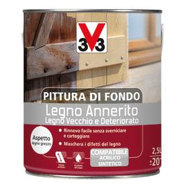 Trattamento schiarente per legno Pittura di fondo legno annerito bianco 0,5 L