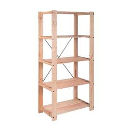Scaffali in legno grezzo prezzi e offerte online leroy for Scaffali in legno grezzo