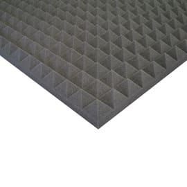 Pannello fonoassorbente piramidale in poliuretano L 1 m x H 1 m, spessore 50 mm