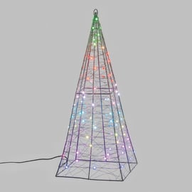 Piramide luminosa 100 minilucciole Led MULTI RGB H 60 cm