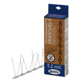 Dissuasore per volatili proteggimuretto grigio in policarbonato 31 x 11 cm