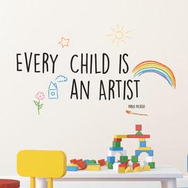 Sticker Words UP Kids Artist