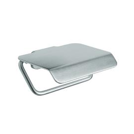 Porta rotolo coperto Artic satinata grigio