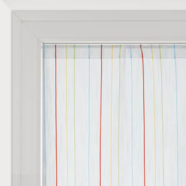 Tendina a vetro per finestra Irene bianco 45 x 150 cm