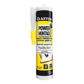 Colla di montaggio e fissaggio effetto chiodo Power Montage Axton trasparente 310 g