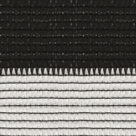 Rete ombreggiante Soleado Sport a strisce orizzontali bicolore bianco e nero L 100 x H 2 m