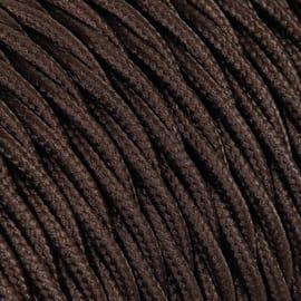 Cavo treccia tessile Merlotti 2,5 mm marrone, matassa 50 m