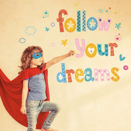 Sticker Words UP Kids Dreams