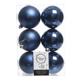 Box sfere blu ø 8 cm