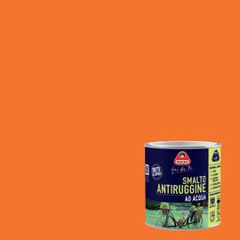 Smalto per ferro antiruggine arancione satinato 0,5 L