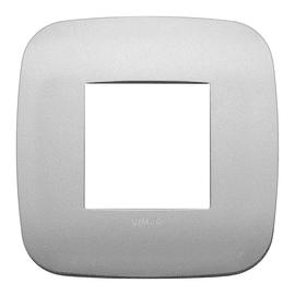 Placca 2 moduli Vimar Arké argento matt