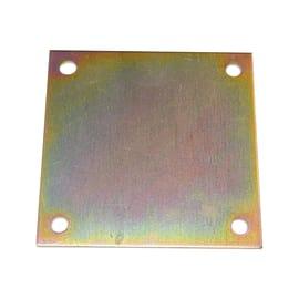 Piastra quadrata 150 x 150 mm, in acciaio zincato ad alta resistenza alla corrosione