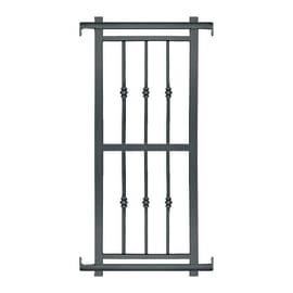 Grata blindata Basic grigio scuro L 80 x H 155 cm