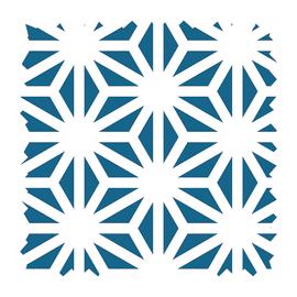 Tessuto su ordinazione Samarcanda geometrico avio
