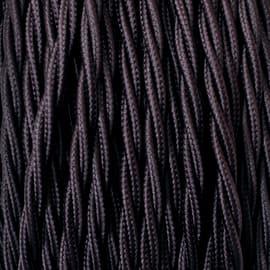 Cavo treccia tessile Merlotti 0,75 mm marrone, matassa 10 m