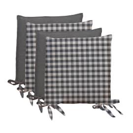 Set 4  coprisedia Quadri grigio 40 x 40 cm