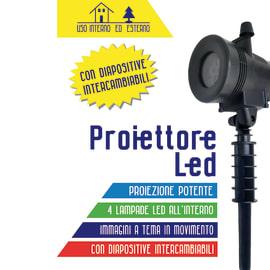 Proiettore 4 Led L 15 x P 8,5 x H 36 cm