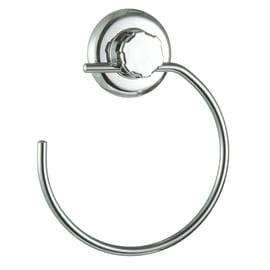 Porta salviette ad anello Bestlock cromato grigio
