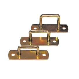 Cavallotto 65 x 25 mm, in acciaio zincato ad alta resistenza alla corrosione