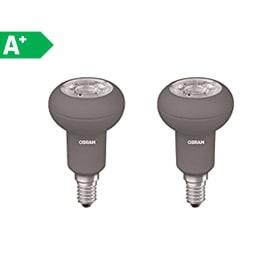 2 lampadine LED Osram E14 =46W luce calda 36°