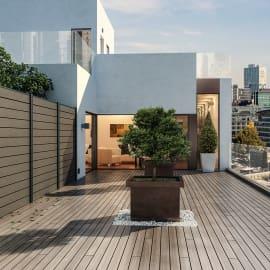 Composizione Kyoto 3 pannelli marrone, L 544 x H 200 cm, da avvitare