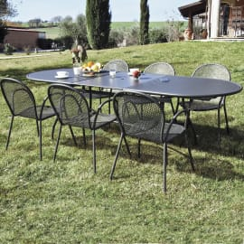 Set tavolo e sedie Evo Pavesino grigio antracite