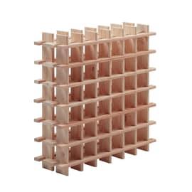 Scaffale legno portabottiglie 36 posti 6 ripiani L 75 x P 22 x H 75 cm