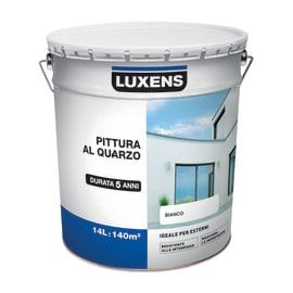 Pittura al quarzo per esterno Luxens bianco 14 L