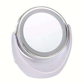 Specchietto ingranditore Crystal bianco Ø 113 cm