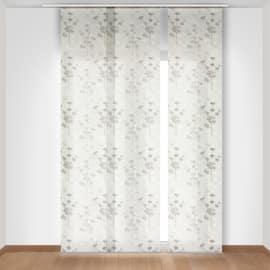 Tenda a pannello Fiori grigio 60 x 300 cm