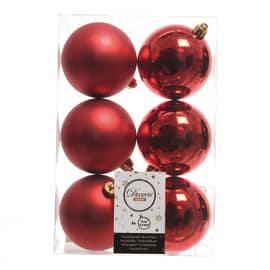 Box sfere rosse ø 8 cm