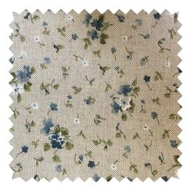 Tessuto su ordinazione Panama Gaia fiore azzurro