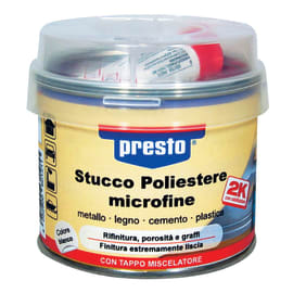Stucco Poliestere Microfine Presto bianco 250 g