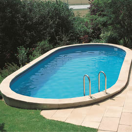 Piscina Ovale interrata Gre 800 x 400 cm