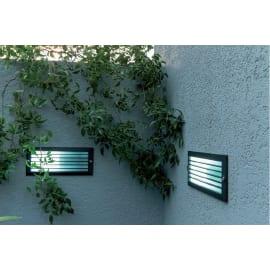 Faretto incasso per esterno a parete Flint LED 23 x 8 cm IP44