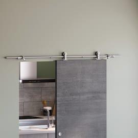 Binario Toledo grigio in inox L 180 cm